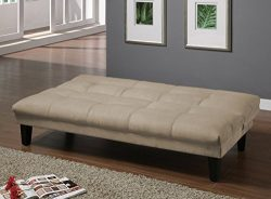 Major-Q Beige Velvet Fabric Pillow Top Convertible/Adjustable Futon Couch Sofa Bed (SH8513657)