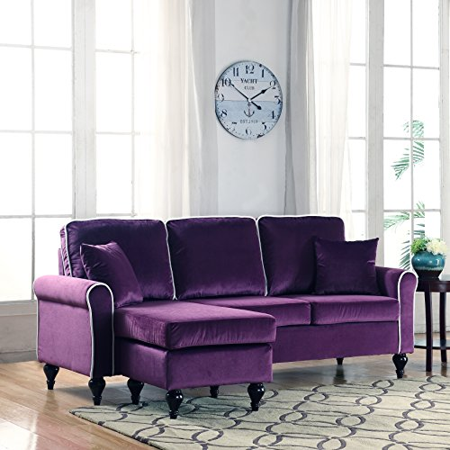 Sectional Sofa Couch Reversible Chaise Ottoman Furniture: Divano Roma Furniture Classic And Traditional Small Space