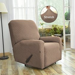 Easy-Going Stretch Recliner Slipcovers,Sofa Covers,4Pieces Furniture Protector Couch Shield with ...