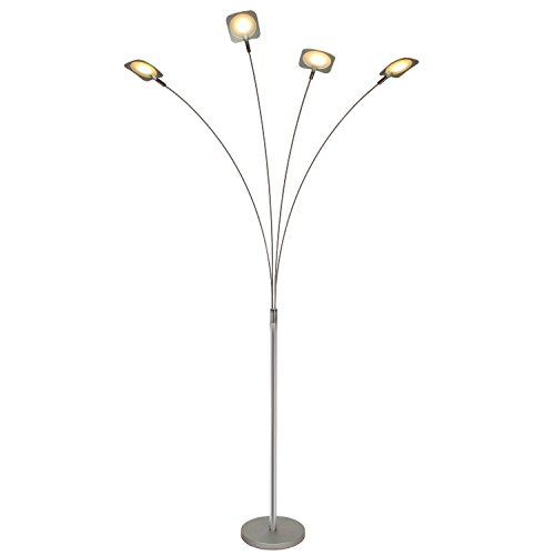 Brightech Orion 4 Led Arc Floor Lamp Modern 4 Arm