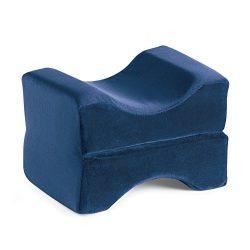 Memory Foam Leg Pillow Wedge Cushion Rest, Blue, 20 1/2″L X 7 1/2″W X 3 2/3″H  ...