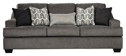 Ashley Furniture Signature Design – Gilmer Chenille Upholstered Queen Size Sleeper Sofa &# ...