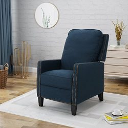 Armstrong Traditional Fabric Recliner, Navy Blue