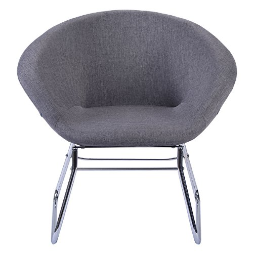 Modern Gray Accent Chair Leisure Arm Sofa Lounge Living Room Home Furniture