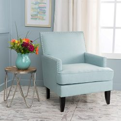 Christopher Knight Home 299990 Tilla-Ckh Arm Chair, Light Blue