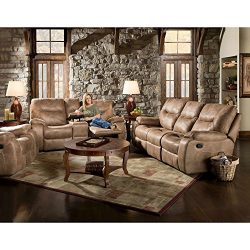 Cambridge Homestead Three Piece Set: Sofa, Loveseat, Recliner Living Room Furniture Sets