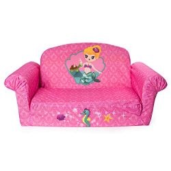 Marshmallow Furniture – Children's 2 in 1 Mermaid Flip Open Foam Sofa