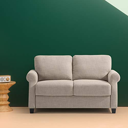 Zinus Traditional Upholstered 56in Sofa Couch Loveseat