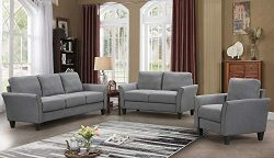 Harper&Bright Designs Living Room Sets Living Room Furniture Sofa 3 Piece Sofa Loveseat Cha ...