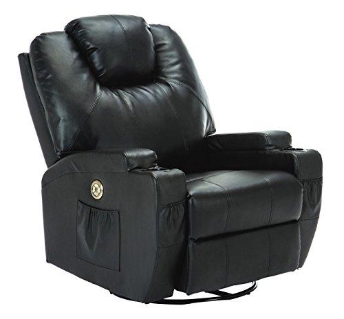 Suncoo Massage Recliner Bonded Leather Chair Ergonomic