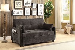 Coaster 551075-CO Convertible Sofa, Dark Brown