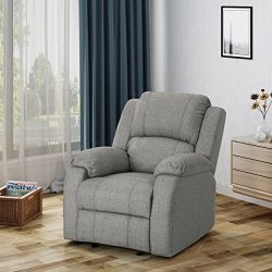 Michelle Classic Fabric Gliding Recliner, Grey