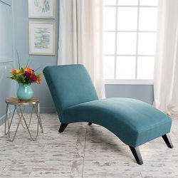 Christopher Knight Home 299897 Finlay Fabric Chaise Lounge, Teal