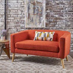 Christopher Knight Home 301294 Bridie Loveseat, Muted Orange