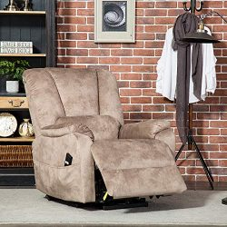 CANMOV Power Lift Recliner Chair for Elderly- Heavy Duty and Safety Motion Reclining Mechanism-A ...