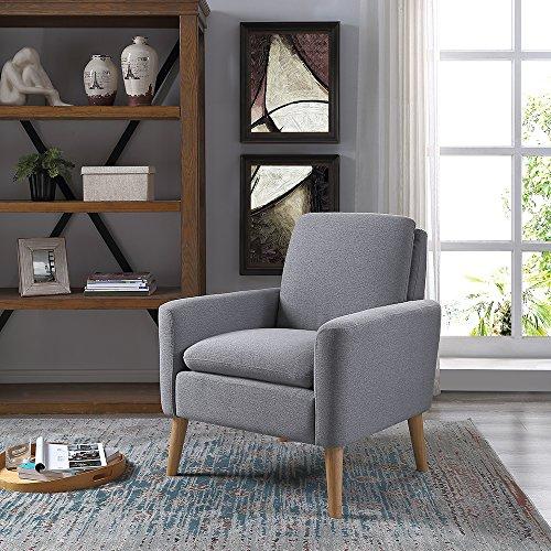 Single Sofa Set Designs: Lohoms Modern Accent Fabric Chair Single Sofa Comfy
