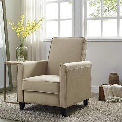 Naomi Home Landon Push Back Recliner Chair Mocha/Linen