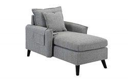 Modern Living Room Chaise Lounge (Light Grey)