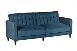 Container Furniture Direct SB-9030 Anastasia Mid Century Modern Velvet Tufted Convertible Sleepe ...