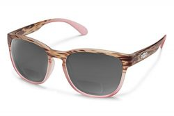 Suncloud Loveseat Polarized Bi-Focal Reading Sunglasses in Matte Tortoise Pink/Grey Lens +2.25