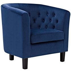 Modway  Prospect Upholstered Velvet Contemporary Modern Accent Arm Chair Navy
