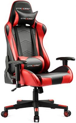 GTRACING Gaming Office Chair Game Racing Ergonomic Backrest and Seat Height Adjustment Computer  ...