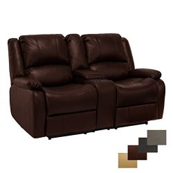 RecPro Charles Collection | 67″ Double Recliner RV Sofa & Console | RV Zero Wall Loves ...