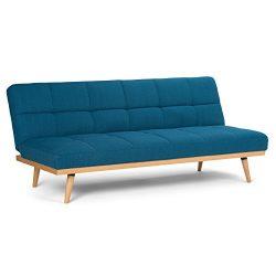 Simpli Home Spencer Sofa Bed, Mediterranean Blue