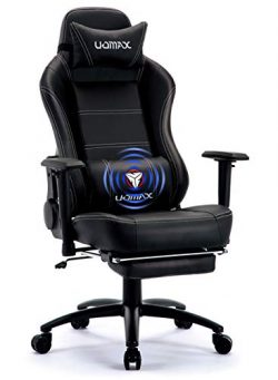 UOMAX Gaming Chair Big and Tall Ergonomic Rocking Desk Chair for Computer, Racing Style Office C ...