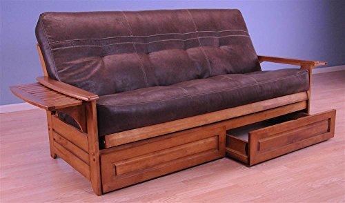 Kodiak Furniture Phoenix Futon in Barbados Finish with Palance Sable Mattress