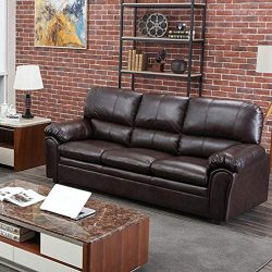 Sofa Sleeper Sofa Leather Couch Sofa Contemporary Sofa Couch Living Room Furniture 3 Seat Modern ...