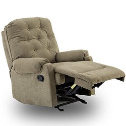 BONZY Glider Rocker Recliner Rocking Tufted Overstuffed Chair with Easy Gliding Track Living Roo ...