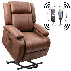 Homall Power Lift Recliner Chair with Massage Single Sofa Living Room Chair Huge Thick Padded So ...