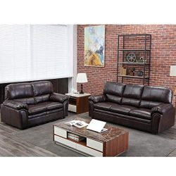 BestMassage Sofa Sectional Sofa Sofa Set Leather Loveseat Sofa Contemporary Sofa Couch for Livin ...