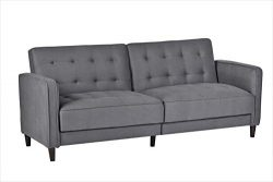 Container Furniture Direct SB-9041 Madelina Modern Fabric Convertible Tufted Sleeper Sofa, 81&#8 ...