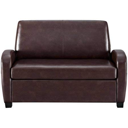 Alex's New Sofa Sleeper Black Convertible Couch loveseat Chair Leather Bed Mattress (Brown ...