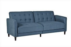 Container Furniture Direct SB-9040 Madelina Modern Fabric Convertible Tufted Sleeper Sofa, 81 ...