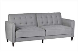 Container Furniture Direct SB-9042 Madelina Modern Fabric Convertible Tufted Sleeper Sofa, 81&#8 ...