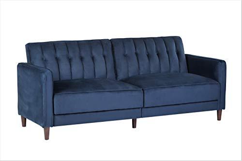 Container Furniture Direct SB-9029 Anastasia Mid Century Modern Velvet Tufted Convertible Sleepe ...