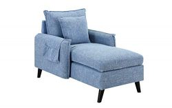 Modern Living Room Chaise Lounge (Light Blue)