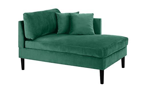 Mid Century Modern Plush Velvet Chaise Lounge (Green)