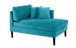 Mid Century Modern Plush Velvet Chaise Lounge (Blue)