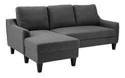 Ashley Furniture Signature Design – Jarreau Contemporary Upholstered Sofa Chaise Sleeper & ...