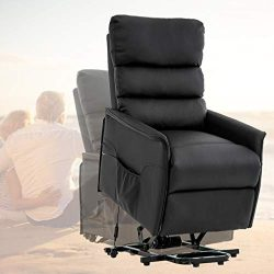 BestMassage Lift Chair Reclainer Power Electric Wall Hugger Leather Contemporary Reclining Livin ...
