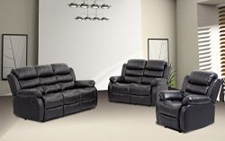 BestMassage Sofa Recliner Sofa Set Reclining Chair sectional Love seat for Living Room Modern Fu ...