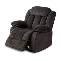 BONZY Oversized Recliner Chair Microfiber Cover Living Room Lounge Chair – Dark Blue