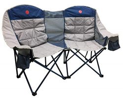 OmniCore Designs MoonPhase Home-Away LoveSeat Heavy Duty Oversized Folding Double Camp Chair Col ...