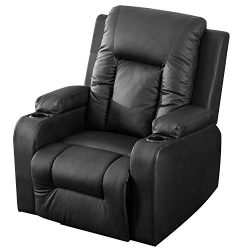 Harper&Bright Designs Power Lift Chair Recliner with PU Leather Heavy Duty Reclining Mechani ...
