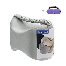Aocome Knee Pillow for Side Sleepers – Ergonomically Designed for Back Pain,Sciatic Nerve  ...