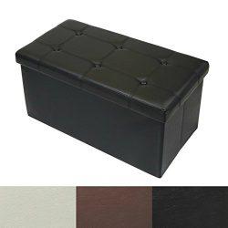 casa pura Ottoman Storage Bench   Classic-Design Upholstered Ottoman Coffee Table Foot Rest   Fa ...